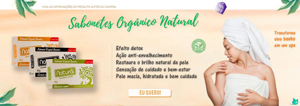 Sabonetes Orgânico Natural