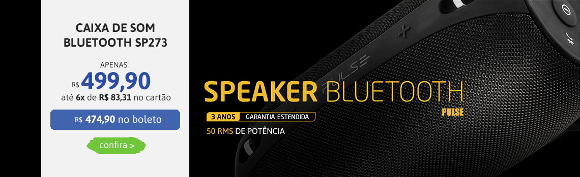 Caixa de som Bluetooth Pulse SP273