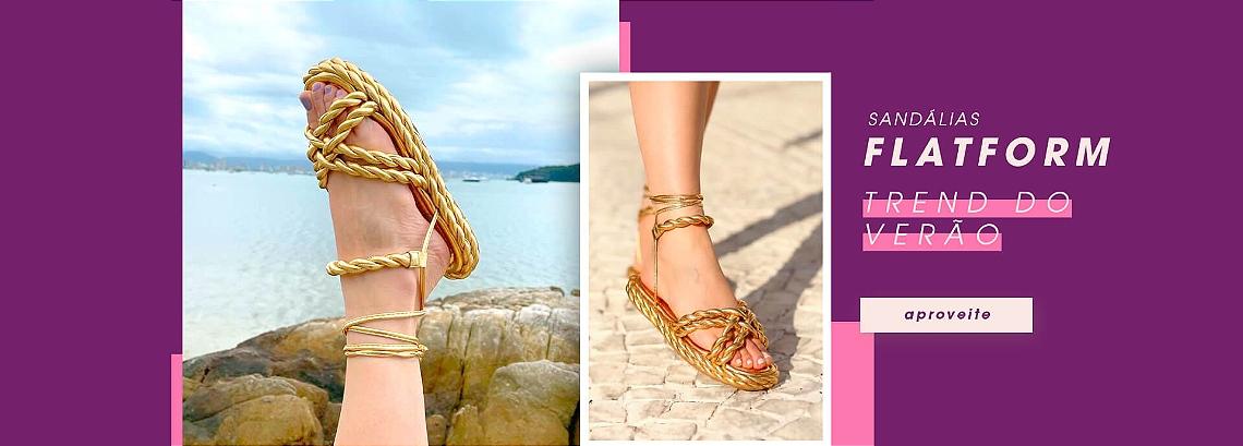 Sandálias Flatform