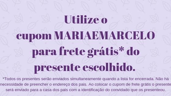 Chá dos pais Maria e Marcelo
