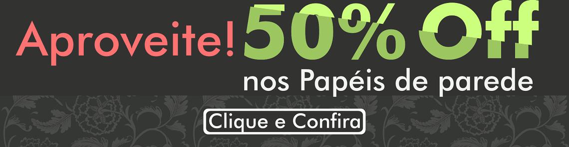 papel de parede 50% off