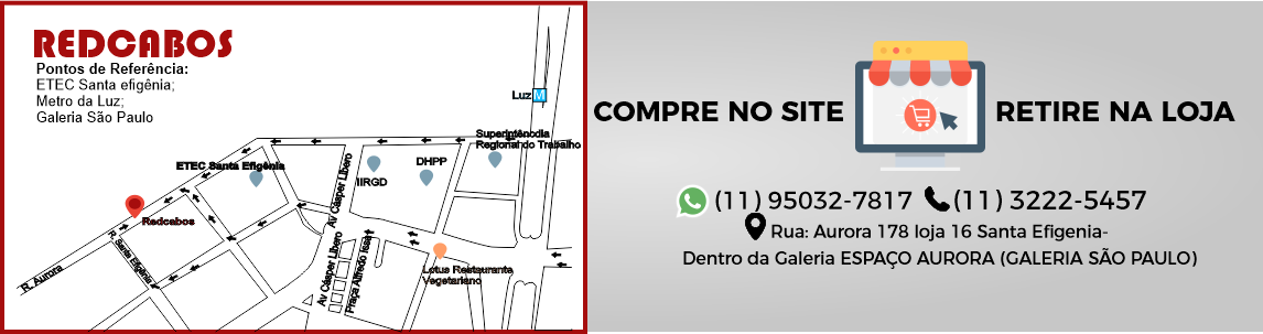 Redcabos - Rua aurora 178 loja 16 santa efigenia