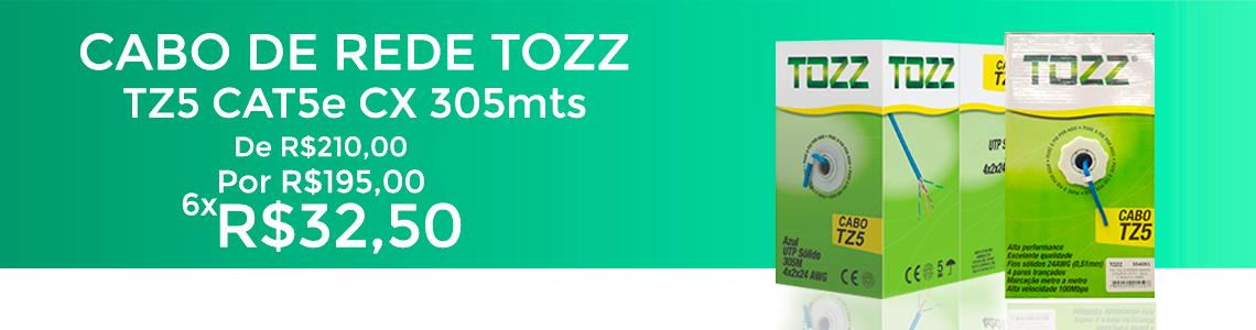 Cabo de Rede Cat5 -TZ5-caixa 305 metros-Tozz redcabos