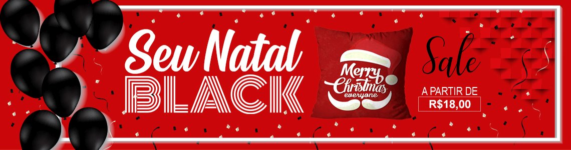 black november almofadas natal