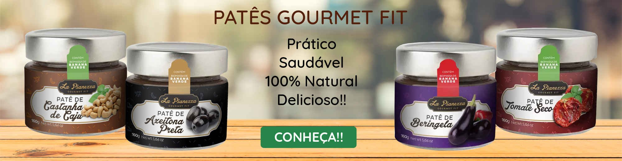 Patês Gourmet Fit La Pianezza