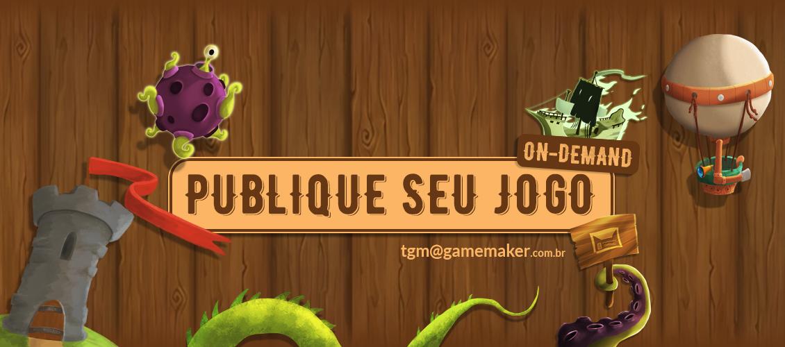 Publique seu jogo Banner