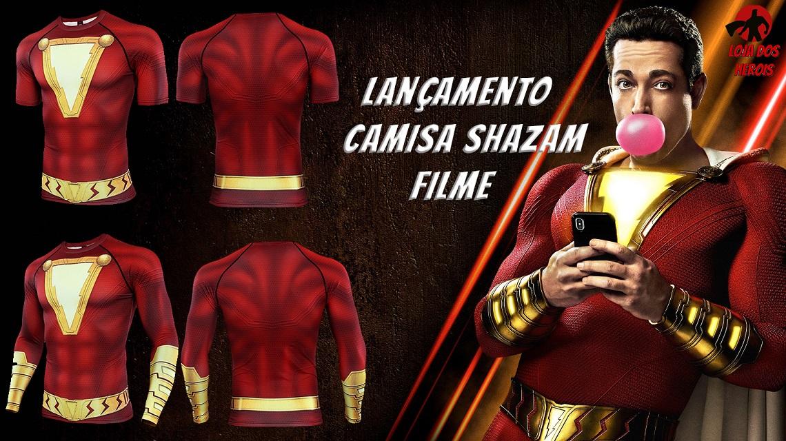 Camisa/Camiseta Shazam Filme 2019
