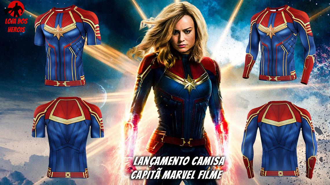 Camisa/Camiseta Capitã Marvel Filme 2019