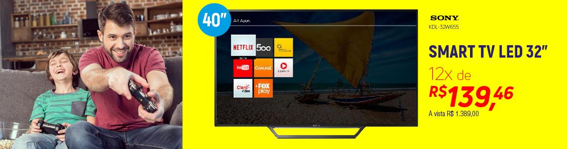 """Sony LED HD Ready Smart TV 32"""" KDL-32W655D"""