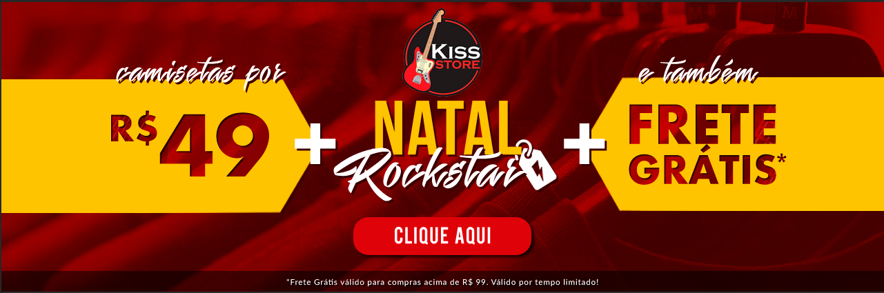 Camisetas Novas - KISS
