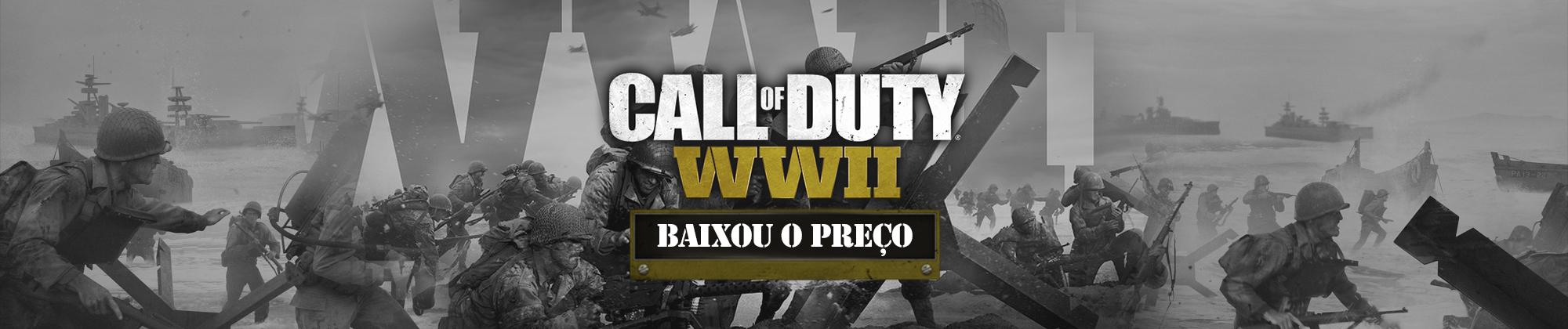 COD WWII - BAIXOU O PREÇO