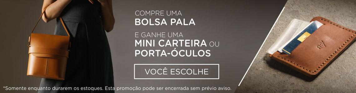 PEQ - Promoção Bolsa Pala + Carteira ou Porta-Óculos