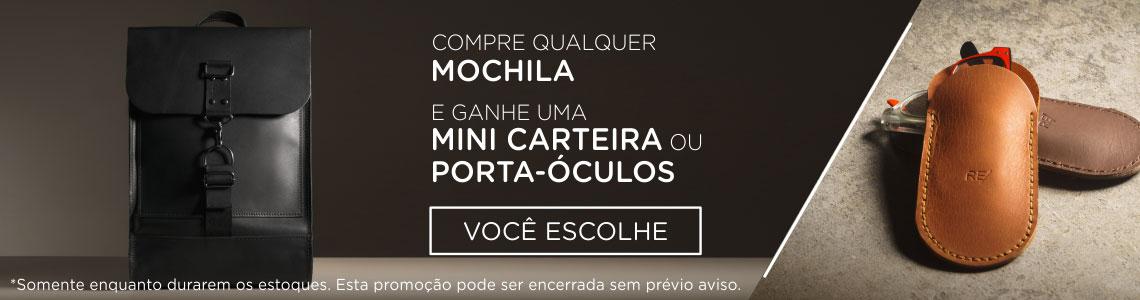 PEQ - Promoção Mochilas + Carteira ou Porta-Óculos