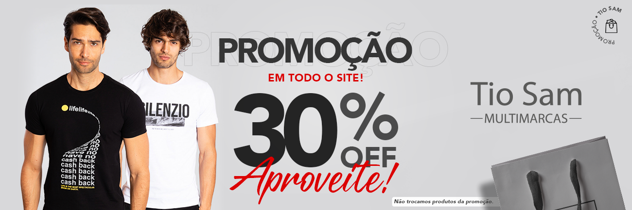 Promoção 30% loja