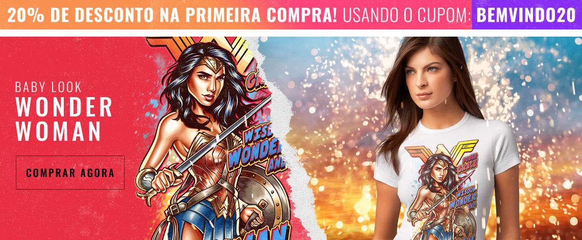 Baby Look Wonder Woman - Mulher Maravilha