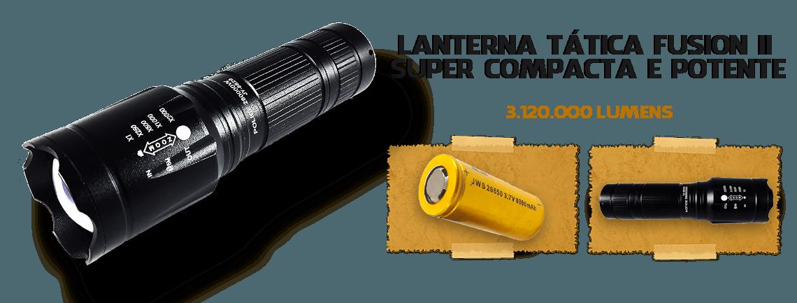 Lanterna Tática Fusion II 1.460.000 Lumens