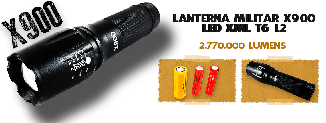 Lanterna X900 Militar