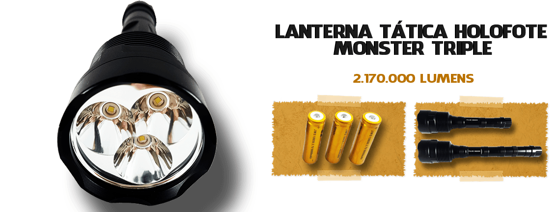 Lanterna Holofote Tática Monster Triple