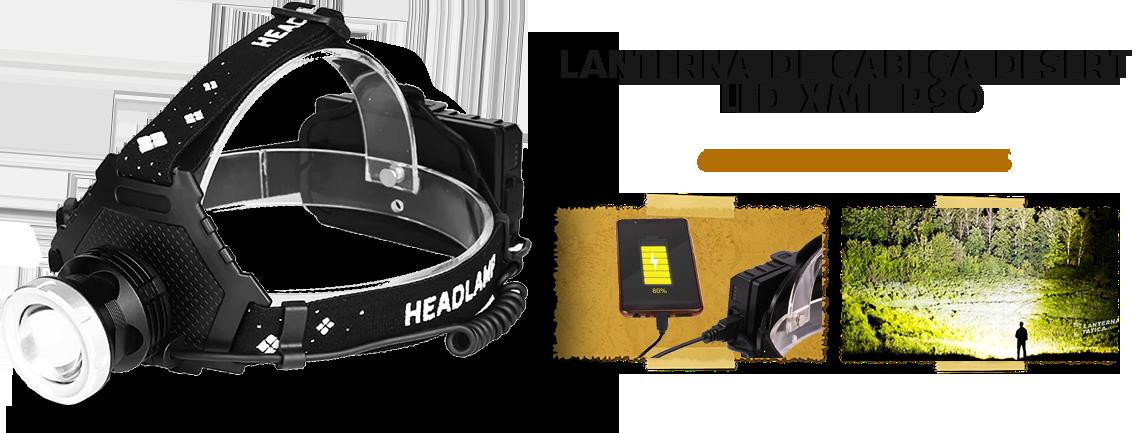 Lanterna de Cabeça Desert LED P90