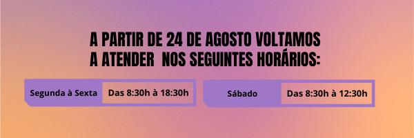 Comunicado horário - Agosto 2020