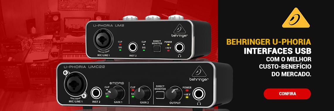 Interfaces de Áudio USB Behringer U-Phoria