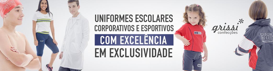 UNIFORMES ESCOLARES, CORPORATIVOS E ESPORTIVOS COM EXCELÊNCIA EM EXCLUSIVIDADE