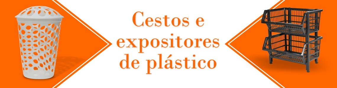 Cestos e expositores de plástico