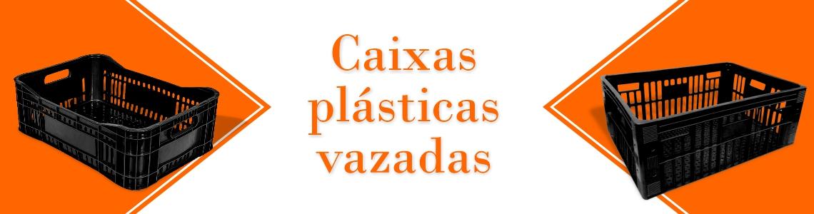 Caixa plástica vazada