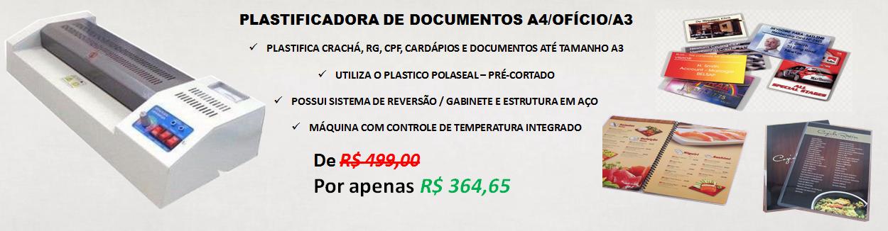 PROMOÇÃO PLASTIFICADORA BENETRON A3