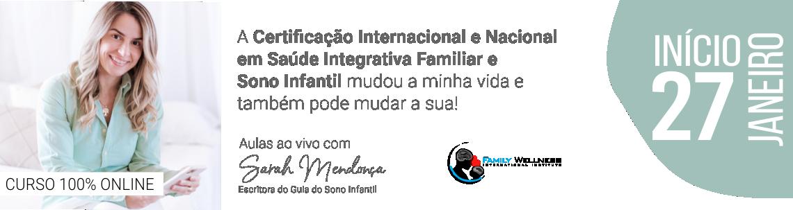 Certificação Internacional em Saúde  Integrativa do Sono Infantil - ONLINE