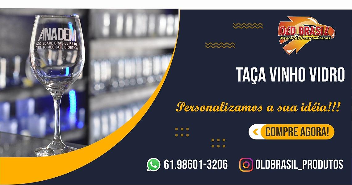 Taça Vinho Vidro TRANSPARENTE