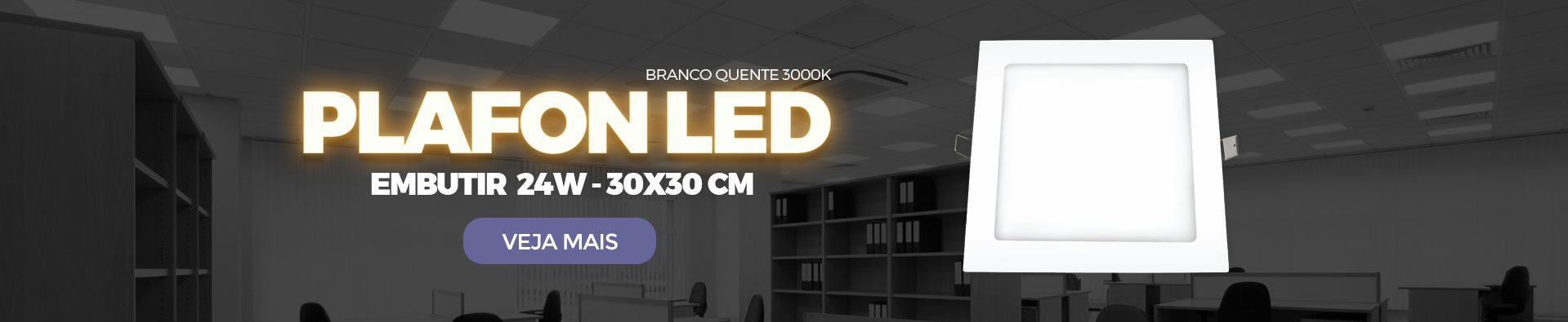 Plafon LED embutir