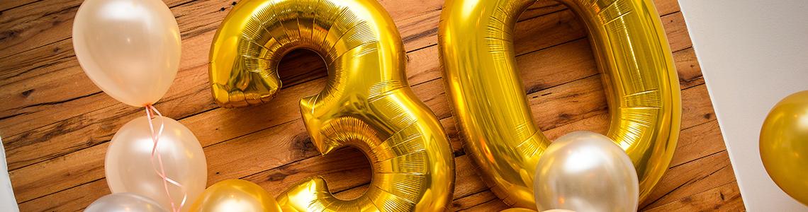 Balões de Letras e Números Categoria