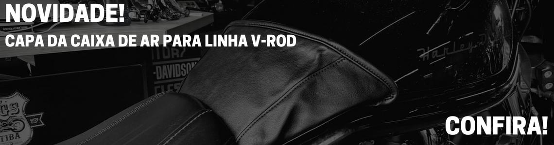 Capa da Caixa de Ar (tanque) - para linha VRod - couro sintético - VRodKings