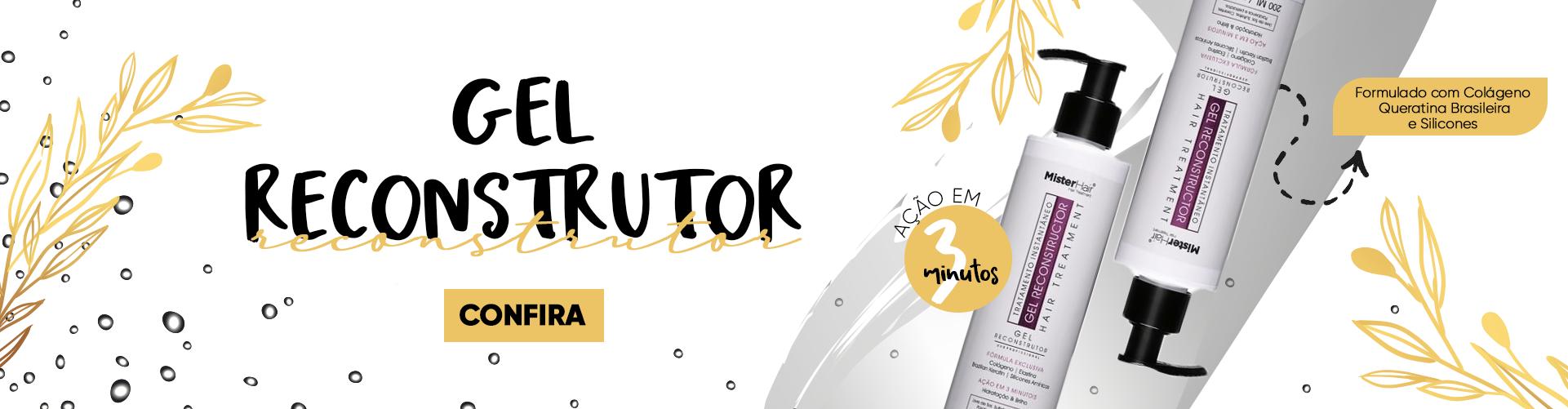 Gel Reconstrutor 3 Minutos - Mister Hair - 200ml