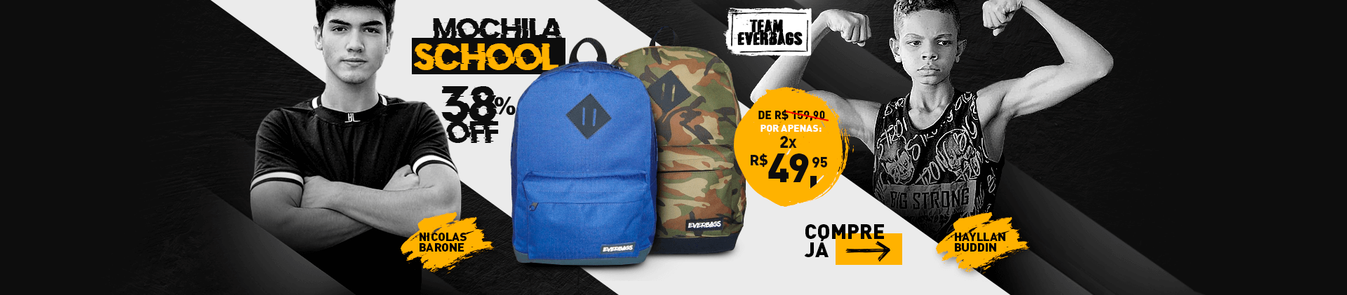 Mochila School Everbags