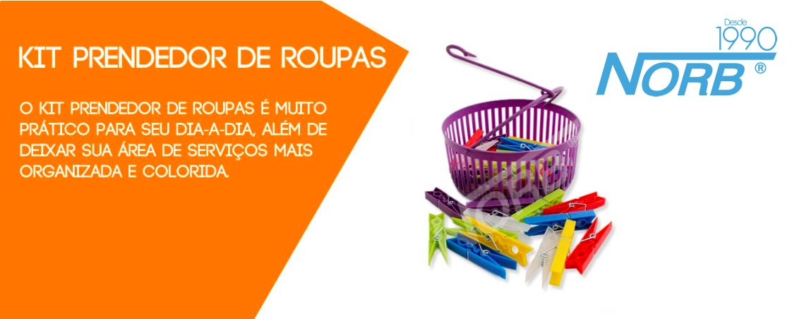 Kit Prendedor de Roupas Completo