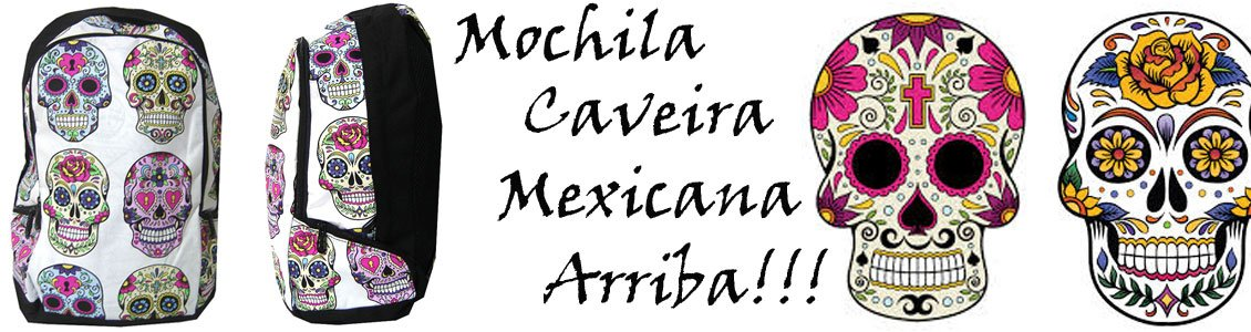 Mochila Caveira Mexicana