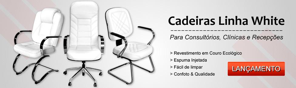 Cadeiras Linha White - Clínicas, Consultórios e Recepções