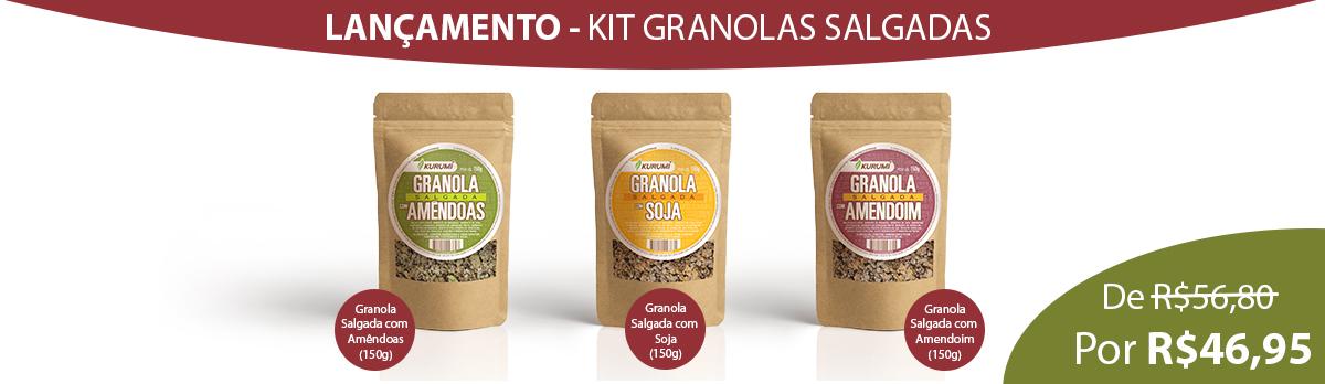 Lançamento - Kit Granolas Salgadas - 1200 x 480