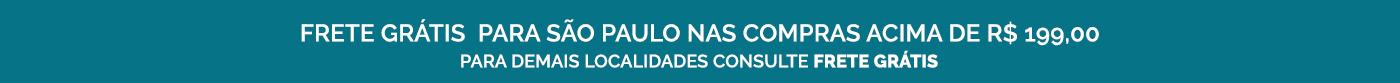 Frete Grátis para São Paulo nas compras acima de R$ 199,00