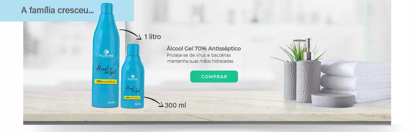 Álcool Gel 70% Antisséptico Higienizador Blumare Pro (2 produtos)