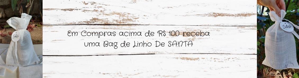 Divulgação Bag de linho DE SANTA