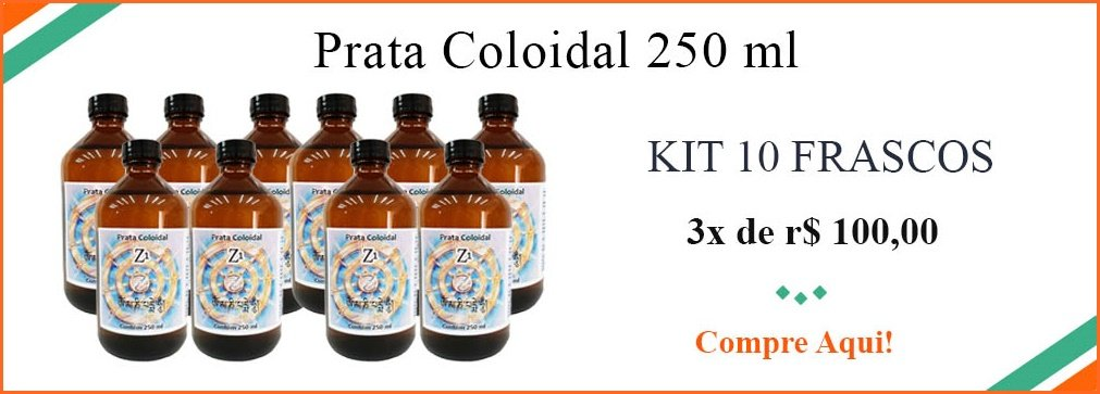 KIT Prata Coloidal - 10 Frascos