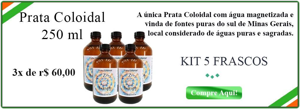PRATA COLOIDAL 5 FRASCOS