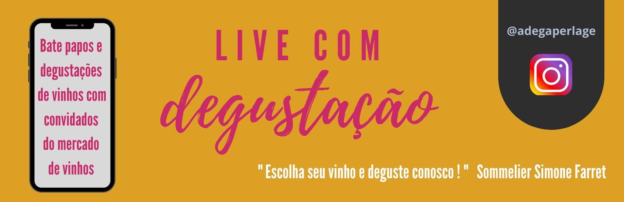 Live com degustação