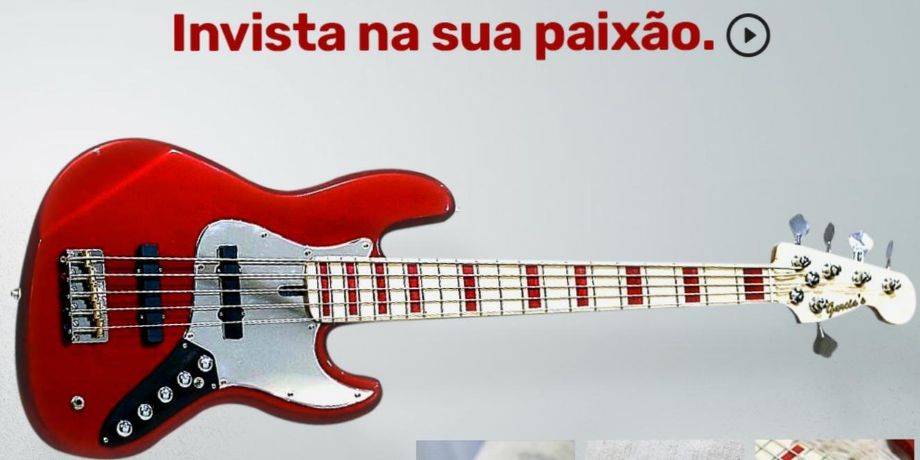 Jazz Bass 5 cordas.  Red Aple.