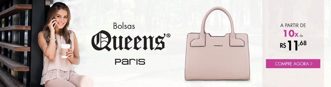 Bolsas Queens Paris à partir de 10x de R$ 11,68