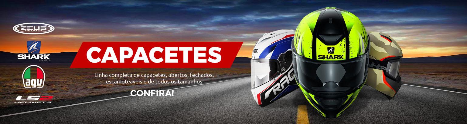 Capacetes para motos e motociclista