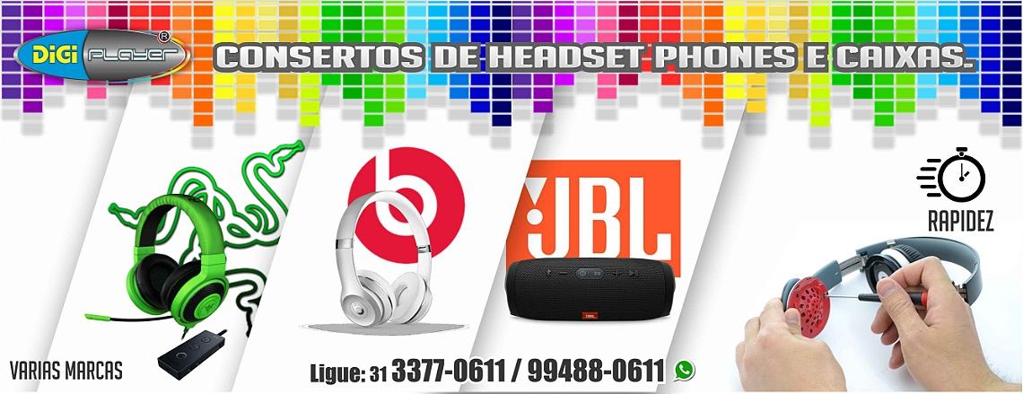 CONSERTO DE HEADSET PHONE E CAIXA